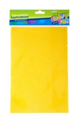 Filc arkusz żółty A4 10el