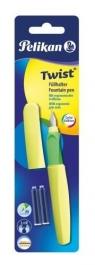 Pióro wieczne Twist P457 M Neon żółty + 2 naboje