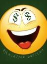 Karnet Emotikony pieniądze 12x16,5 cm