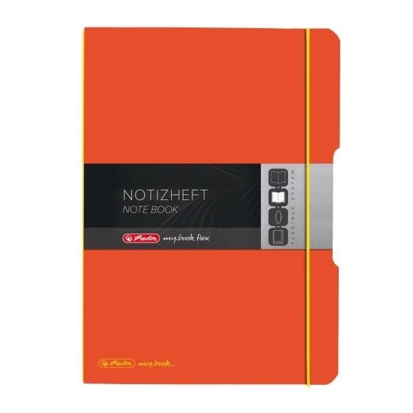 Notatnik my.book Flex A4/2x40k linia, kratka - pomarańczowy (11361482)