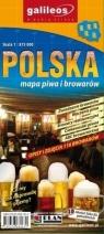Mapa piwa i browarów - Polska 1:875 000