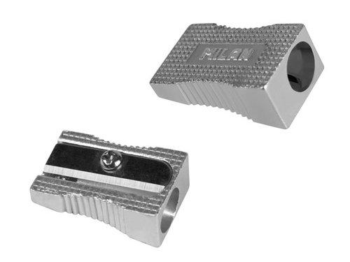 Temperówka Milan aluminiowa pojedyńcza ścięta 20 sztuk