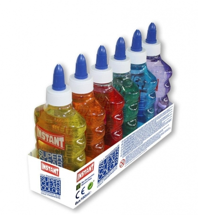 Klej w płynie kolorowy przezroczysty (6szt)INSTANT