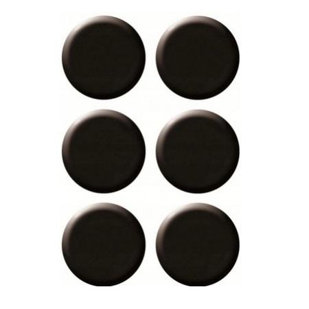 Magnesy do tablic czarne 20mm/6szt. - gładkie (GM400-V6)