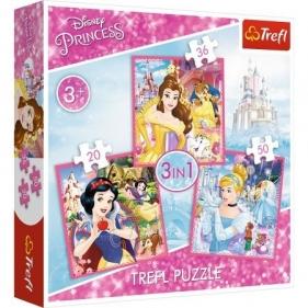 Puzzle 3w1: Zaczarowany świat księżniczek (34833)