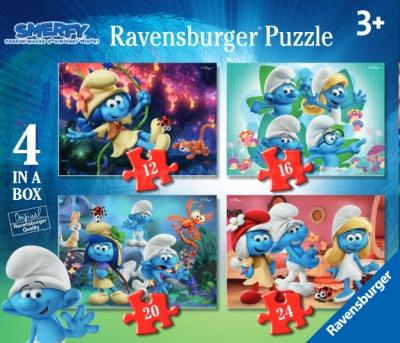 Puzzle 4w1 Przygody Smerfów