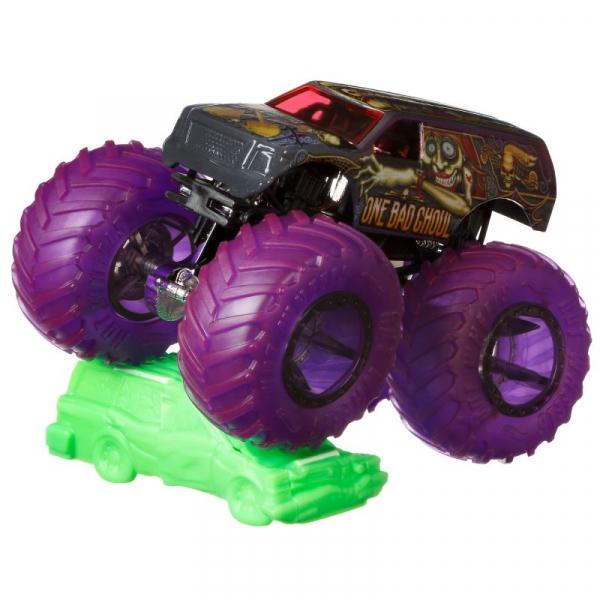 Hot Wheels Monster Trucks: Pojazd 1:64 - One Bad Ghoul (FYJ44/GJD93)