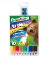 Kredki Bambino drewniane 10 kolorów z temperówką Mini zoo