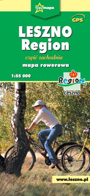 Leszno Region mapa rowerowa cz. zachodnia praca zbiorowa