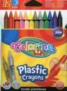 Kredki świecowe okrągłe plastikowe Colorino kids 12 kolorów