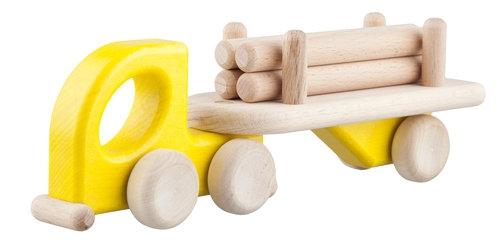 Mała Lorry Logs Żółta