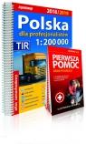 Polska dla profesjonalistów Atlas samochodowy 1:200 000 2018/2019