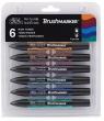 Zestaw pisaków Brushmarker Winsor & Newton - Rich Tones, 6 kolorów (17043829C)