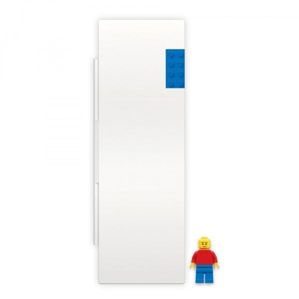 Biały piórnik z niebieskim klockiem i minifigurką LEGO® (bez wyposażenia) (52609)
