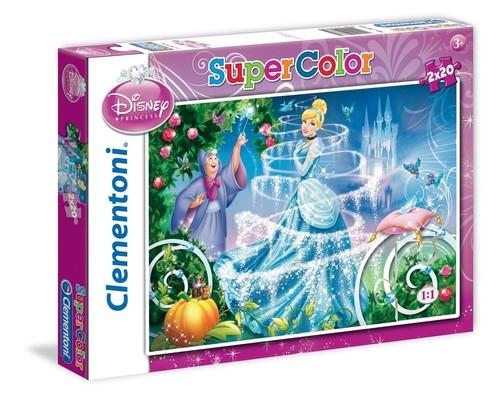 Puzzle SuperColor 2x20 Kopciuszek (24733)
