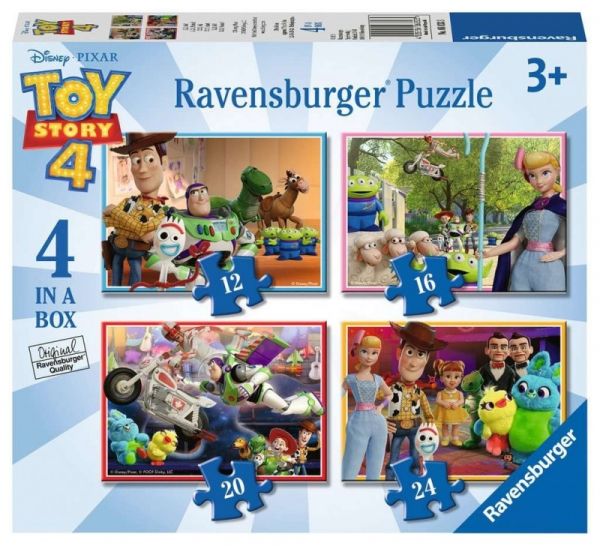 Puzzle 4w1 Toy Story 12/16/20/24