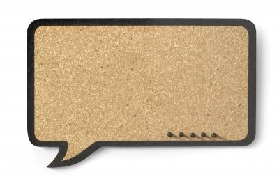 Tablica korkowa Galeria Papieru dymek 44 x 29 cm (255005)