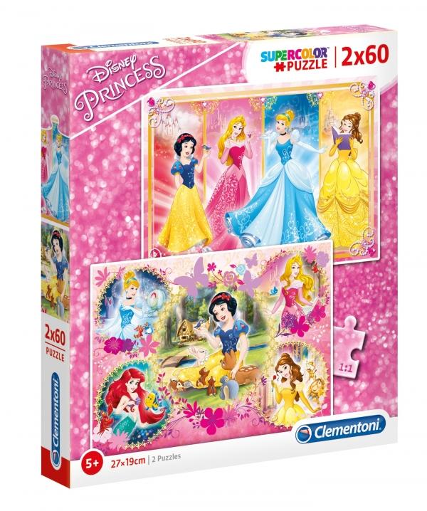 Puzzle SuperColor 2x60: Księżniczki  (07133)