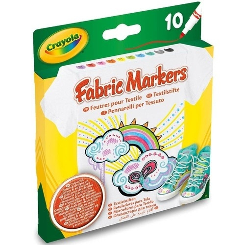 Markery do tkanin Crayola Fabric Markers - 10 kolorów
