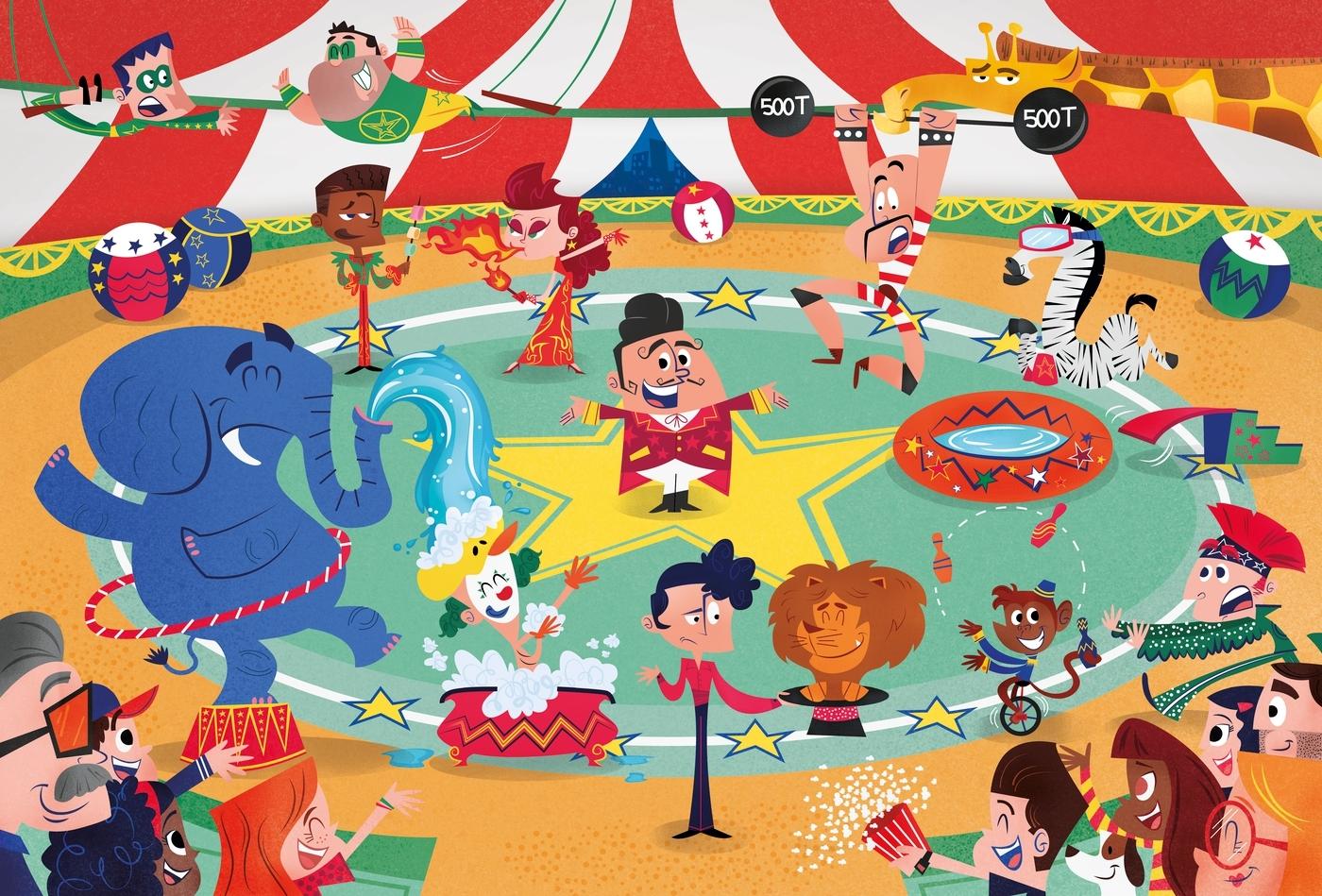 Puzzle Maxi SuperColor 104: Crazy circus (23733)