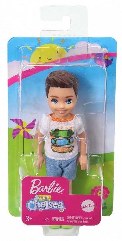 Mała lalka Chłopiec Barbie Chelsea i przyjaciele  Koszulka deskorolki/Brązowe włosy (DWJ33/GHV64)