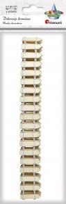 Ozdoba drewniana Titanum Craft-fun mini płotek naturalny 1 szt
