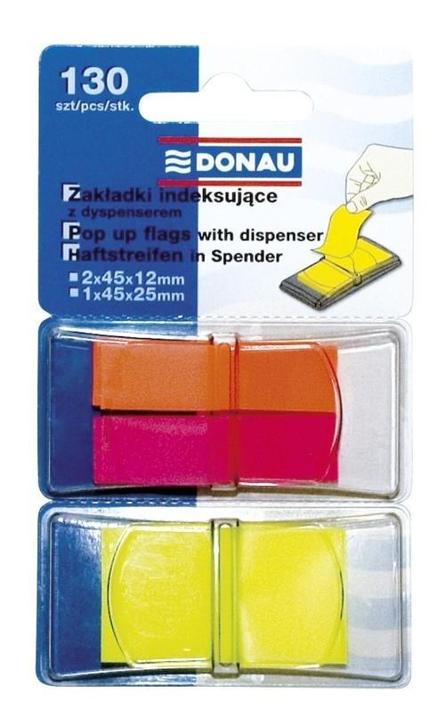 Zakładki indeksujące z dyspenserem Donau mix kolorów (7559001PL-99)