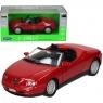 WELLY Alfa Romeo Spider, czerwone (WE29387)