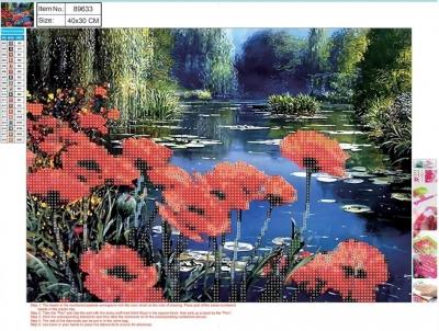 Mozaika diamentowa 5D 30x40cm Flowers 89633