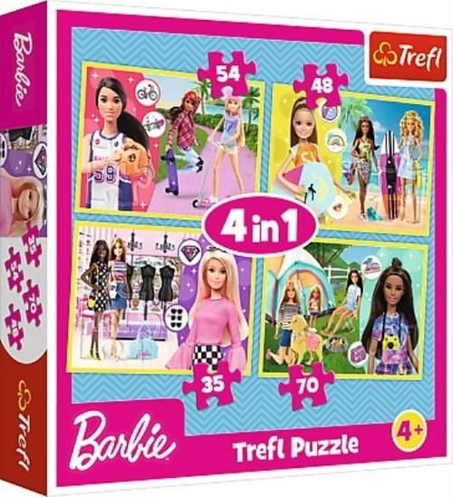 Puzzle 4w1 W świecie Barbie