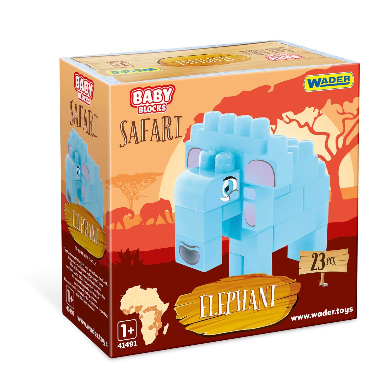 Baby Blocks Safari - klocki słoń (41502)