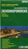 Województwo zachodniopomorskie mapa samochodowa z podziałem administracyjnym 1:200 00