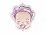 Balon foliowy Partydeco w kształcie bobasa Dziewczynka 40x45cm 18cal (FB63-081)