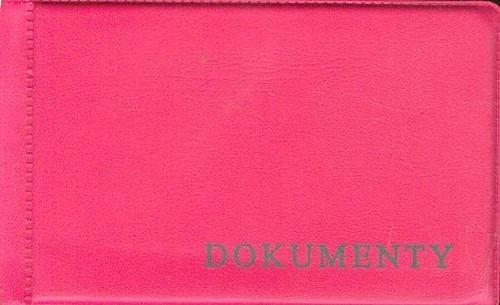 Okładka na dokumenty małe różowa