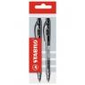 Długopis Stabilo liner czarny 2 sztuki