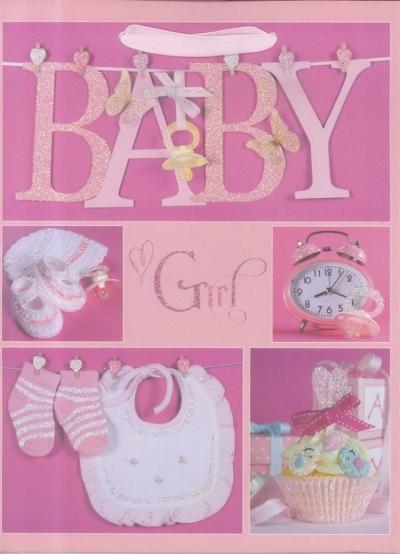 Torebka prezentowa L Baby Girl 1330-01