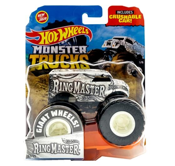 Hot Wheels Monster Truck: Pojazd 1:64 - RingMaster (FYJ44/GMR87)