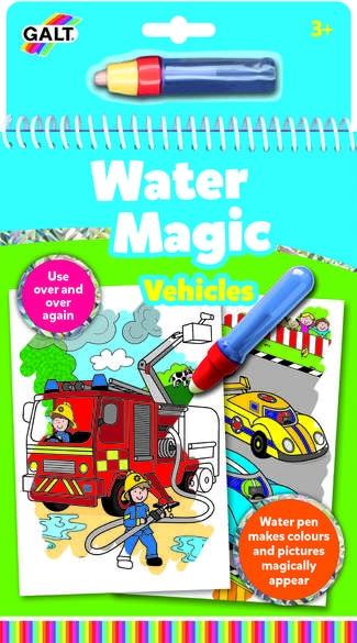 Kolorowanie wodą Auta pisak na wodę