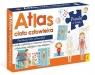 Atlas ciała człowieka: Atlas w zestawie z mapą i puzzlami