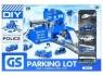 Parking i metalowe akcesoria policja