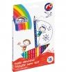 Kredki trójkątne Fiorello Super Soft, 18 kolorów
