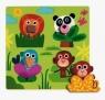 Puzzle Układanka drewniana z uchwytami Dżungla (DJ01033)