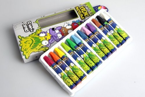Kredki pastelowe 12 kolorów Trash Pack