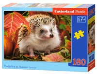 Puzzle 180: Hedgehog in Autumn Leaves (B-018338)