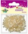 Cekiny okrągłe 7mm 10g - perłowe białe (284880)