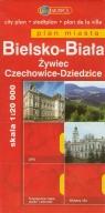 Bielsko-Biała Żywiec Czechowice-Dziedzice Plan miasta 1:20000
