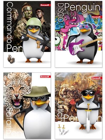 Brulion Dan-Mark penguin A5 krata 96 (5905184014339) DANMARK