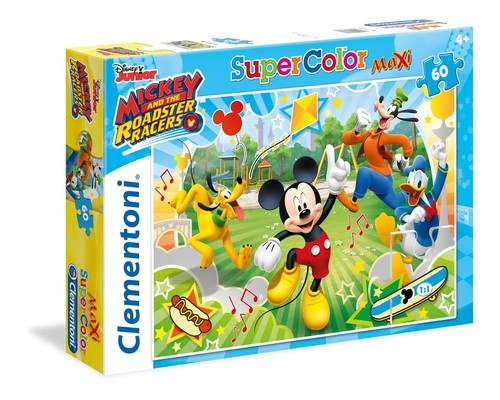 Puzzle 60 Super Color Maxi Mickey and the Roadster Racers (26433)