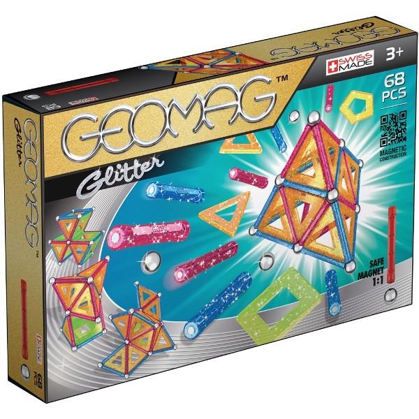 Geomag Glitter - 68 elementów (GEO-533) (Zgnieciony kartonik)
