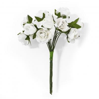 Ozdoba papierowa Galeria Papieru kwiaty róże białe (252004)